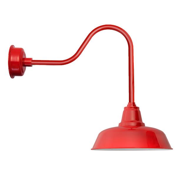 """14"""" Sleek Cherry Red Indoor/Outdoor Goodyear LED Barn Lights"""