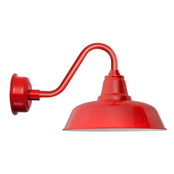 "Cherry Red 14"" Indoor/Outdoor Vintage Goodyear LED Barn Light"