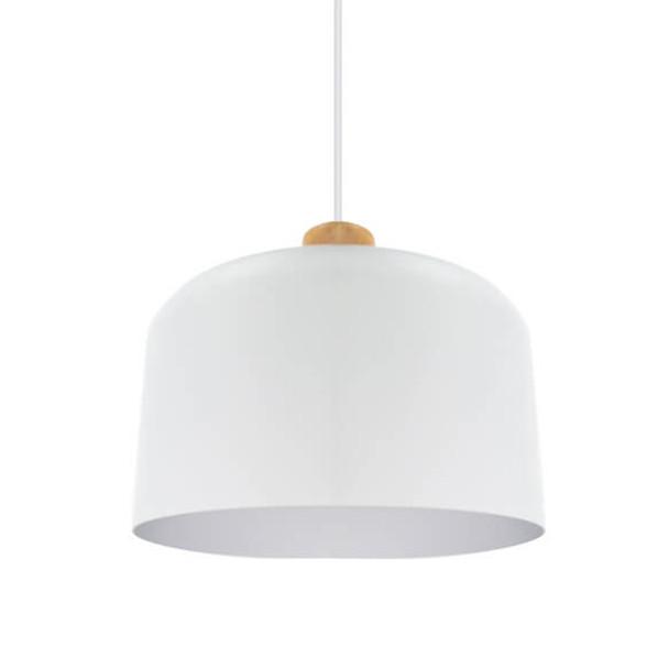 """11"""" Genoa LED Pendant Light in White"""