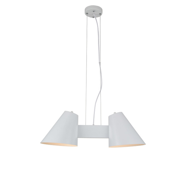 Perugia 2 Light LED Chandelier in White