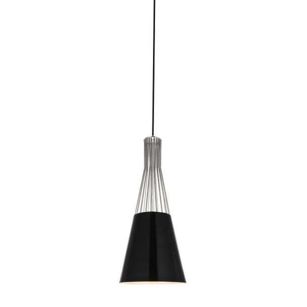 "8"" Vercelli LED Pendant Light in Black"