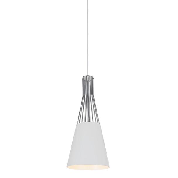 """8"""" Vercelli LED Pendant Light in White"""