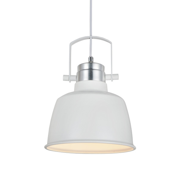 "9"" Arezzo LED Pendant Light in White"