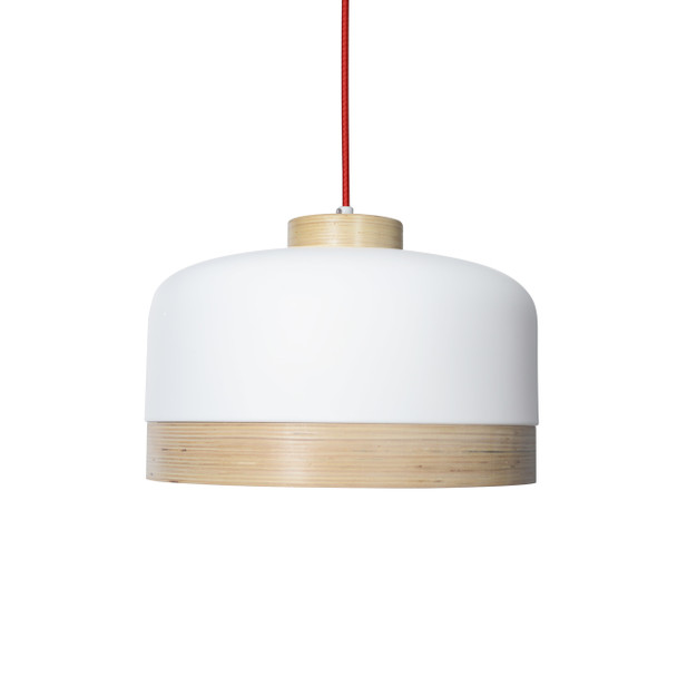 "14"" Vicenza LED Pendant Light in White"