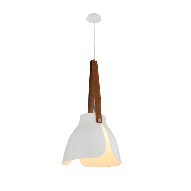 """15"""" Enna LED Pendant Light in White"""