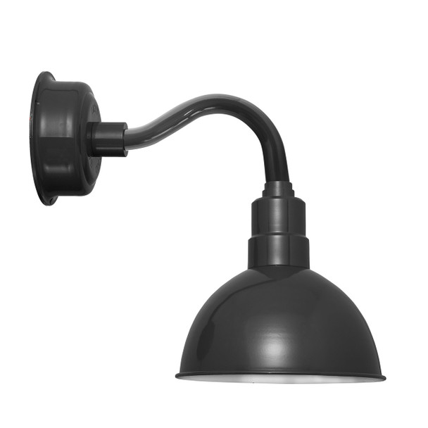 """12"""" Blackspot LED Sconce Light in Black with Chic Arm in Black"""
