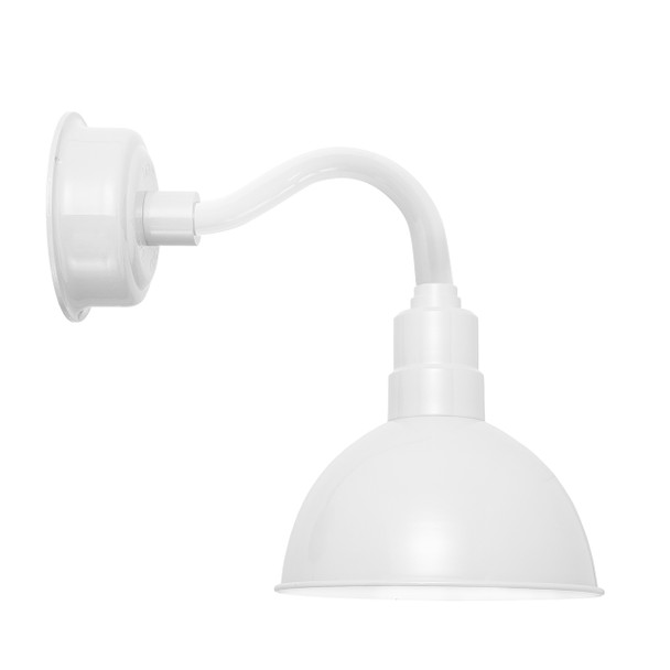 """12"""" Blackspot LED Sconce Light with Chic Arm in White"""
