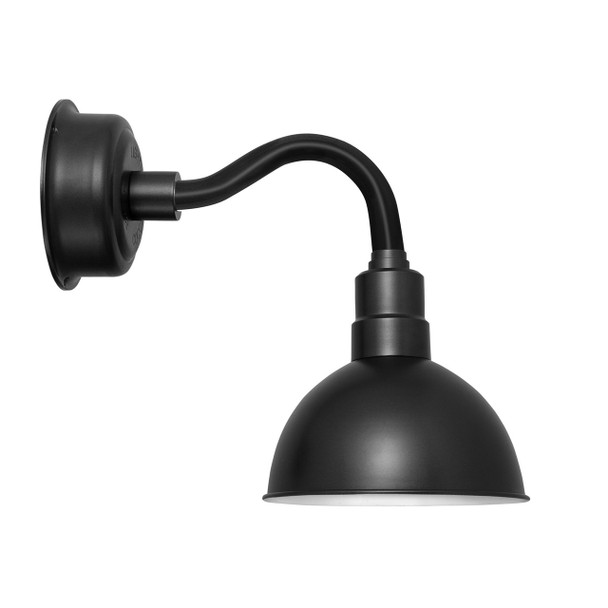 "12"" Blackspot LED Sconce Light with Chic Arm in Matte Black"