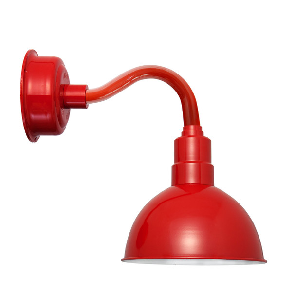 """14"""" Blackspot LED Sconce Light with Chic Arm in Cherry Red"""