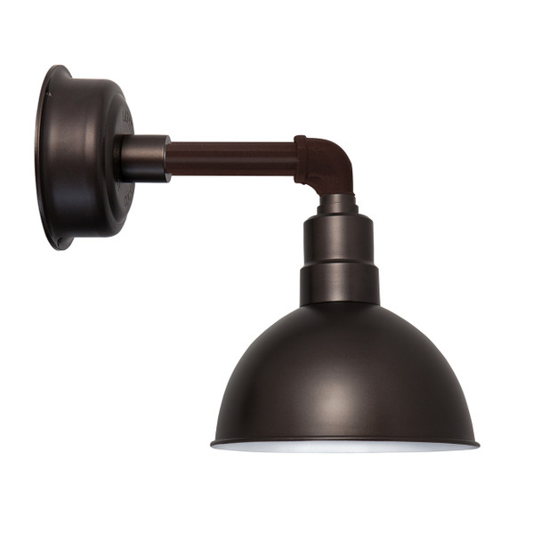 "8"" Blackspot LED Sconce Light with Cosmopolitan Arm in Mahogany Bronze"