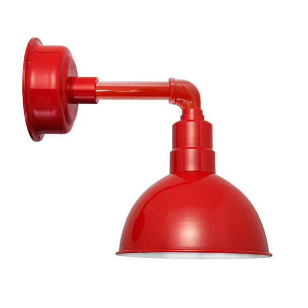 """12"""" Blackspot LED Sconce Light with Cosmopolitan Arm in Cherry Red"""