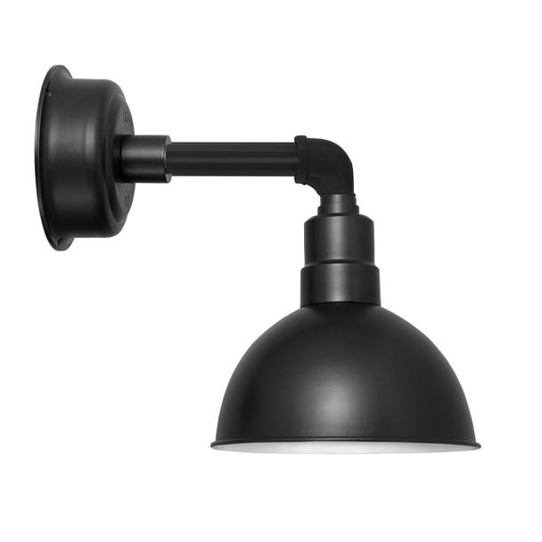 """14"""" Blackspot LED Sconce Light with Cosmopolitan Arm in Matte Black"""