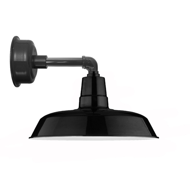 "14"" Oldage LED Sconce Light in with Cosmopolitan Arm in Black"