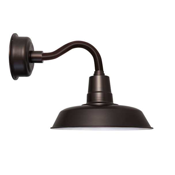 "12"" Oldage LED Sconce Light with Chic Arm in Mahogany Bronze"