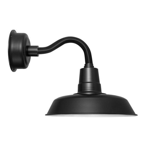 "14"" Oldage LED Sconce Light with Chic Arm in Matte Black"