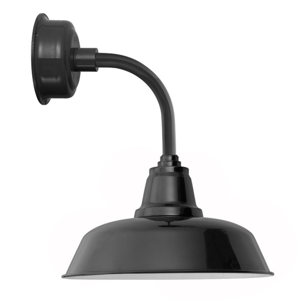 """14"""" Goodyear LED Sconce Light with Trim Arm in Black"""