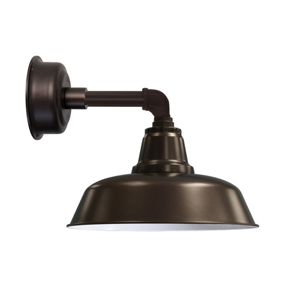 """14"""" Goodyear LED Sconce Light with Cosmopolitan Arm in Mahogany Bronze"""