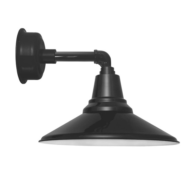 "12"" Calla LED Sconce Light with Cosmopolitan Arm in Black"
