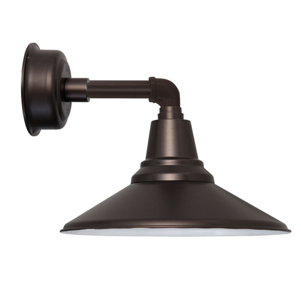 """12"""" Calla LED Sconce Light in with Cosmopolitan Arm in Mahogany Bronze"""
