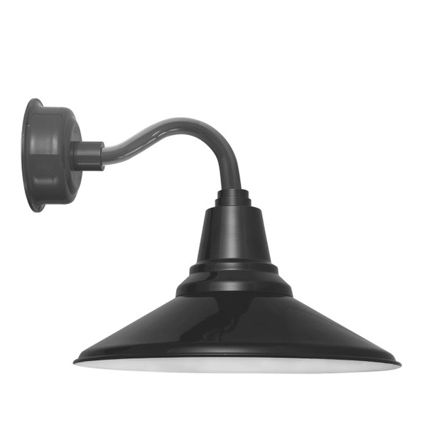 """12"""" Calla LED Sconce Light with Chic Arm in Black"""
