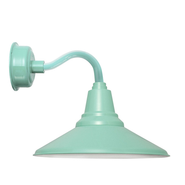 """14"""" Calla LED Sconce Light with Chic Arm in Jade"""