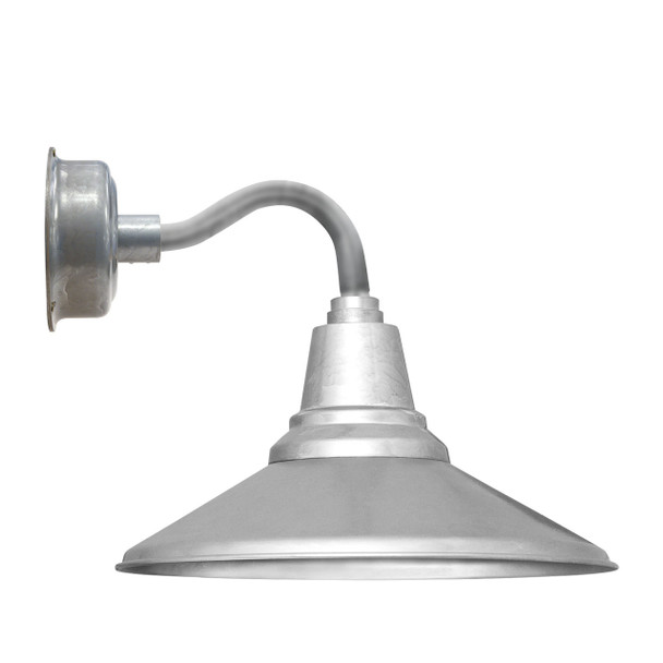 "14"" Calla LED Sconce Light with Chic Arm in Galvanized Silver"