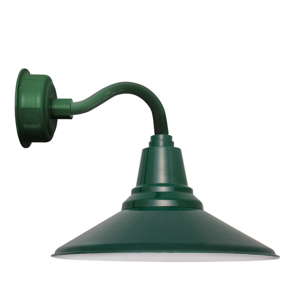 """14"""" Calla LED Sconce Light with Chic Arm in Vintage Green"""