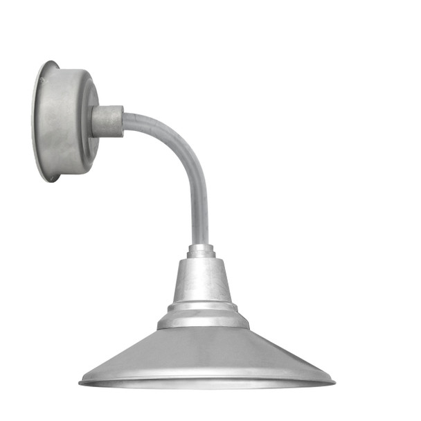 """12"""" Calla LED Sconce Light with Trim Arm in Galvanized Silver"""
