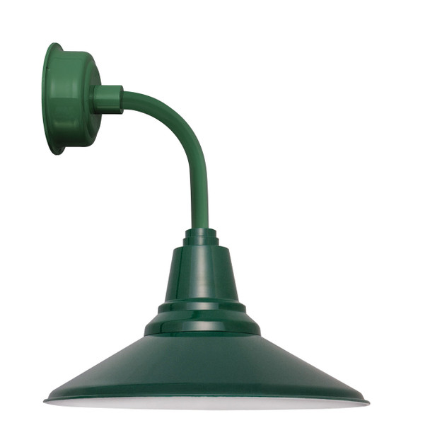 """12"""" Calla LED Sconce Light with Trim Arm in Vintage Green"""