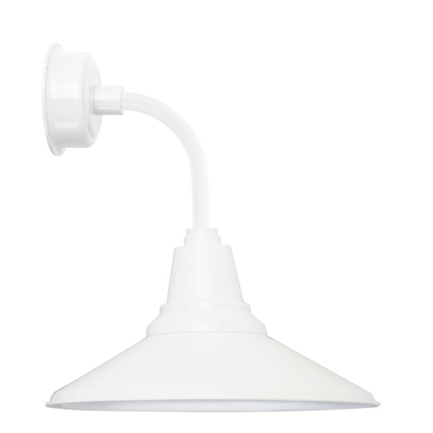"14"" Calla LED Sconce Light with Trim Arm in White"