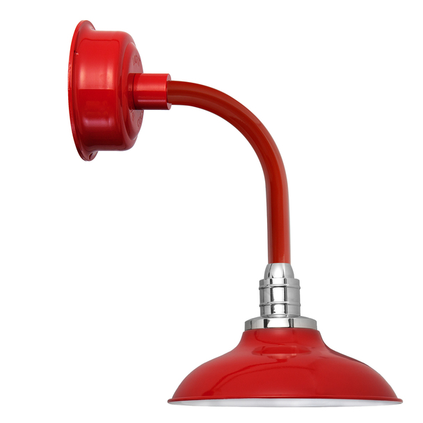 "12"" Peony LED Sconce Light with Trim Arm in Cherry Red"