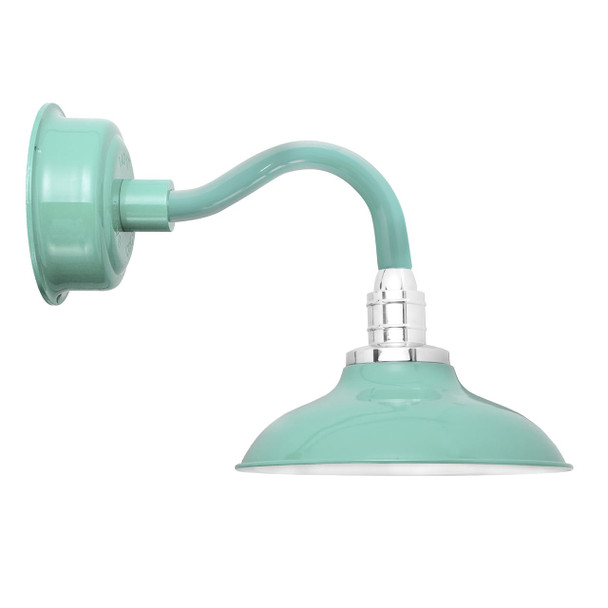 "10"" Peony LED Sconce Light with Chic Arm in Jade"