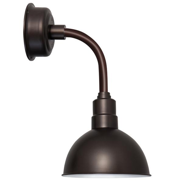 "10"" Blackspot LED Sconce Light with Trim Arm in Mahogany Bronze"