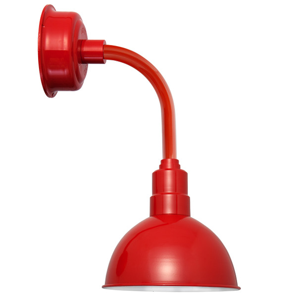"""14"""" Blackspot LED Sconce Light with Trim Arm in Cherry Red"""