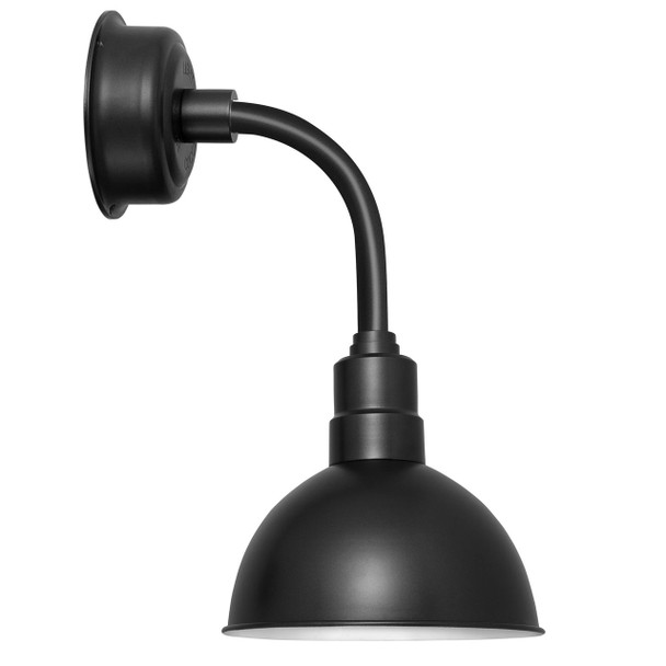 "8"" Blackspot LED Sconce Light with Trim Arm in Matte Black"