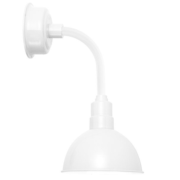 "8"" Blackspot LED Sconce Light with Trim Arm in White"