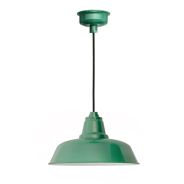 "14"" Goodyear LED Pendant Light in Vintage Green"