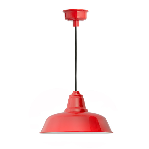 "14"" Goodyear LED Pendant Light in Cherry Red"