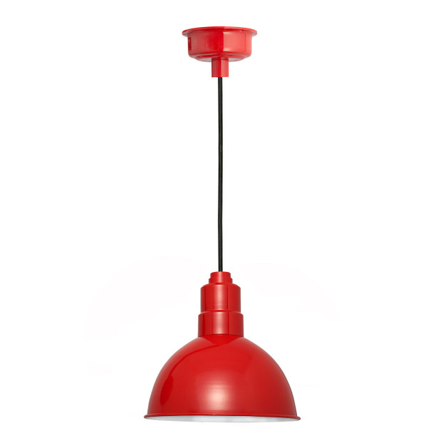 "12"" Blackspot LED Pendant Light in Cherry Red"