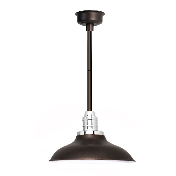 "10"" Peony LED Pendant Light in Mahogany Bronze with Mahoganny Bronze Downrod"