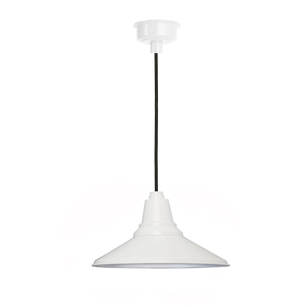 "12"" Calla LED Pendant Light in White"