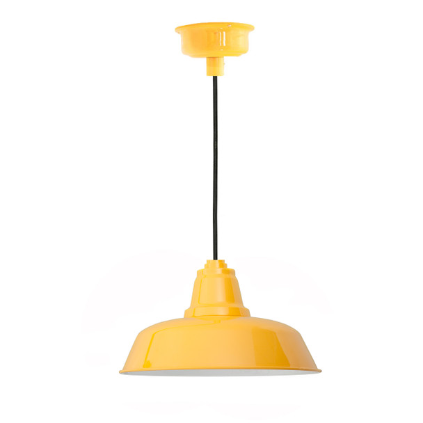 "10"" Goodyear LED Pendant Light in Yellow"