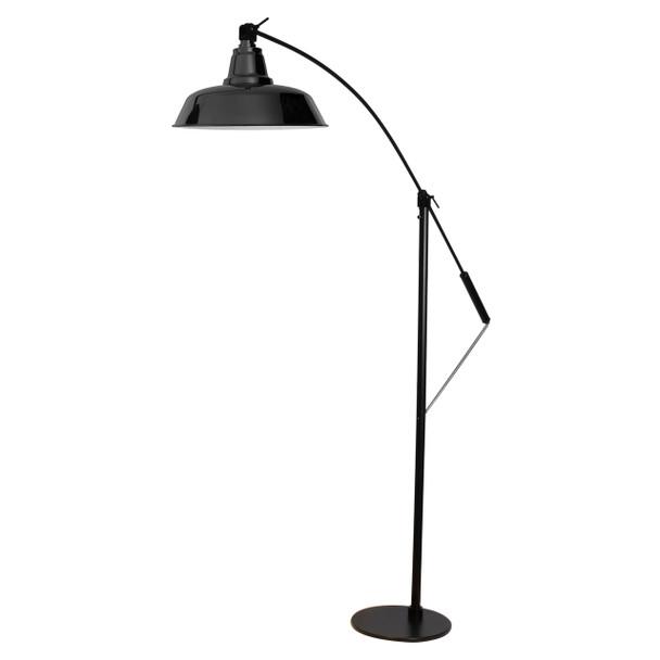 "Front View of 12"" Goodyear Adjustable Floor Lamp - Black"