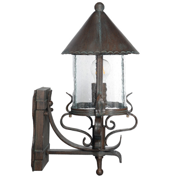 Elphin Outdoor LED Standing Wall Lantern