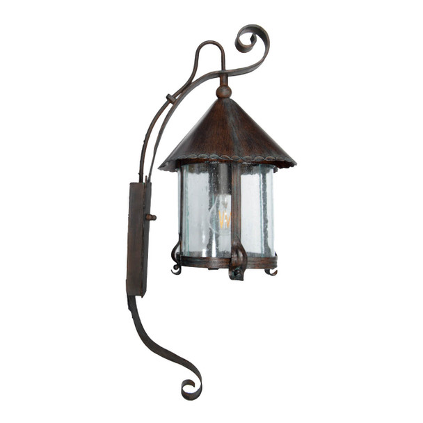 Elphin Outdoor LED Hanging Wall Lantern