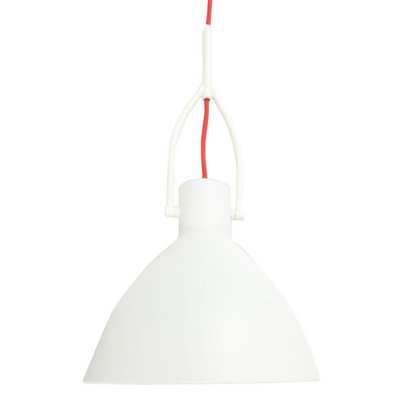 """12"""" Cagliari LED Pendant Light in White"""