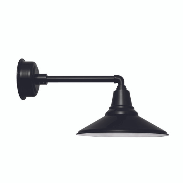 "20"" Calla LED Barn Light with Metropolitan Arm in Black"