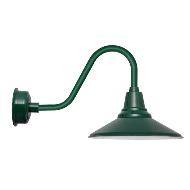 "20"" Calla LED Barn Light with Rustic Arm in Vintage Green"