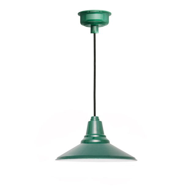 "20"" Calla LED Pendant Light in Vintage Green"