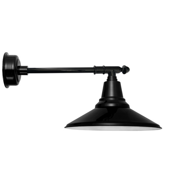 "18"" Calla LED Barn Light with Victorian Arm - Black"